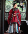 Hanfu 81% (inclusive) - 90% (inclusive) Red stand collar yarn shirt within 7 days delivery, white streamer yarn horse face within 7 days delivery, black cloud shoulder Xs, s, m, l, XL, one size fits all, customized, 20 days longer polyester fiber