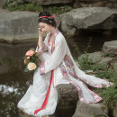 Hanfu 81% (inclusive) - 90% (inclusive) Summer 2020 The goods will be delivered within 7 days for ivory embroidered long shirts, ivory aircraft sleeves, gold woven and cut gauze pleated skirts, and pink pearl songmo Xs, s, m, l, XL, custom only custom skirt, 20 more work polyester fiber