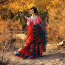 Hanfu 91% (inclusive) - 95% (inclusive) Half arm top 7 days delivery, 4.5m one piece waist skirt 7 days delivery, accessories Ribbon 7 days delivery XS,S,M,L,XL polyester fiber