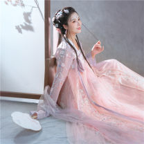 Hanfu 91% (inclusive) - 95% (inclusive) Embroidered top and skirt delivered in 7 days XS,S,M,L,XL polyester fiber