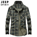 shirt Youth fashion Jeep / Jeep M L XL 2XL 3XL 4XL routine stand collar Long sleeves standard Other leisure autumn youth Cotton 100% tide 2019 other Denim Autumn of 2019 washing cotton other Pure e-commerce (online only) More than 95%