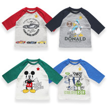 T-shirt A,B,C,D Other / other 90cm,100cm,110cm,120cm,130cm,140cm neutral spring and autumn Long sleeves Crew neck solar system No model nothing cotton Cartoon animation Cotton 100% Class A Chinese Mainland
