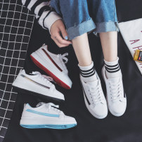 canvas shoe Cool rain Low Gang Red Silver Black Blue three hundred and fifty-three billion six hundred and thirty-seven million three hundred and eighty-three thousand nine hundred and forty Spring of 2018 Frenulum Korean version plastic cement Solid color Youth (18-40 years old) Eighty-one Women's