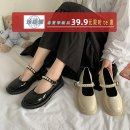 Low top shoes 35 36 37 38 39 40 Jentina BEIGE BLACK upgrade Beige upgrade black Round head PU Square heel Middle heel (3-5cm) Shallow mouth cloth Summer 2021 Flat buckle solar system Adhesive shoes Youth (18-40 years old) Solid color rubber Single shoes Beaded platform cloth leisure time 9Jzs
