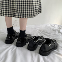 Low top shoes 35 36 37 38 39 Jentina Black Diamond Black Pearl Black Diamond upgrade Black Pearl upgrade Round head PU Thick heel Middle heel (3-5cm) Deep mouth cloth Summer 2021 Frenulum solar system Adhesive shoes Youth (18-40 years old) Solid color rubber Single shoes Thick heel platform cloth