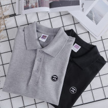 Polo shirt Lnohkaifvs / laohufu Youth fashion routine White left chest embroidered ape head grey left chest embroidered ape head black left chest embroidered ape head S M L XL 2XL easy Other leisure summer Short sleeve tide routine youth Cotton 100% Geometric pattern cotton washing Embroidery
