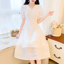 Dress Summer 2021 Apricot, white S,M,L other