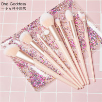 Make up brush One goddess man-made fiber 7 brushes collection send color bag + Cotton 7 brushes + color bag + noble bucket Long rod China Normal specification Any skin type nothing