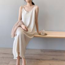 Dress Other / other Apricot, black, grayish blue Average size Korean version Sleeveless have more cash than can be accounted for spring other Solid color knitting