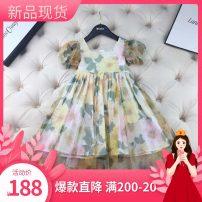 Dress Light yellow, light green female Other / other 90cm,100cm,110cm,120cm,130cm,140cm,150cm Polyester 100% Chiffon Big swing 2, 3, 4, 5, 6, 7, 8, 9, 10, 11