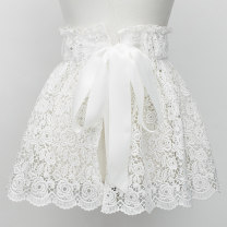 Belt / belt / chain cloth White one size, black one size, black one size female Waistband Sweet Single loop Youth, youth Flower design soft surface Bare, woven, embossed, inlaid, tassel, hollowed out, lace, bow, frosted, plaid, lace, elastic, flower, embroidery Other / other YF340