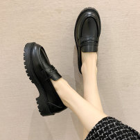 Low top shoes 35 36 37 38 39 40 Bei xuanna black Round head PU Muffin bottom Middle heel (3-5cm) Deep mouth cloth Spring 2021 Trochanter solar system Adhesive shoes Youth (18-40 years old) Solid color polyurethane Single shoes Muffin with cloth leisure time Pure e-commerce (online only) Women's