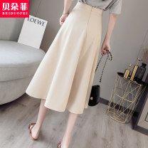 skirt Summer 2020 S M L XL Mid length dress Versatile High waist Pleated skirt Solid color Type A 25-29 years old More than 95% other Bedorf other wave Other 100% Pure e-commerce (online only)