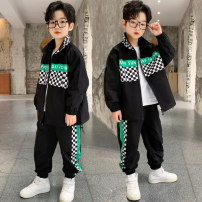 suit Other / other Gray, black 170cm,160cm,130cm,140cm,120cm,150cm male spring and autumn Korean version Long sleeve + pants 2 pieces routine There are models in the real shooting Zipper shirt nothing other children Giving presents at school DXWTZBBCP21038 Class B Other 100% 7 years old