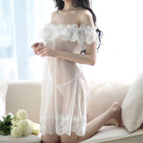 Fun pajamas spandex Other / other Gauze transparent nightdress White, black, white + stockings, white + stockings, white + (flesh color silicone transparent chest paste), black + stockings, black + stockings, black + (flesh color silicone transparent chest paste) Long skirt style Netting Average size