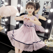 Dress White pink Lavender female Shun Yi Bei Er 110cm 120cm 130cm 140cm 150cm Other 100% summer princess Skirt / vest Solid color other A-line skirt KM1942 Class B Spring 2020 Chinese Mainland