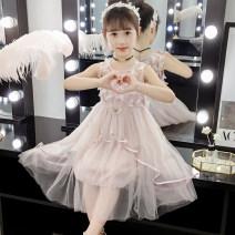 Dress summer princess other Cake skirt Solid color Class B Summer of 2019 female Shun Yi Bei Er Other 100% Four, five, six, seven, nine, ten, eleven, twelve Suspender skirt / vest skirt sybe01911 Chinese Mainland White pink 110cm 120cm 130cm 140cm 150cm 160cm