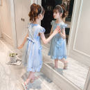 Dress Blue for the same bag, pink for the same bag female Shun Yi Bei Er 110cm 120cm 130cm 140cm 150cm 160cm Cotton 89.6% polyester 7.3% polyamide 3.1% summer Korean version Skirt / vest cotton A-line skirt ZJXZ2118 Class B Summer 2021