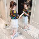 Dress White dark grey female Shun Yi Bei Er 110cm 120cm 130cm 140cm 150cm 160cm summer Korean version Short sleeve Daisy cotton Cake skirt Class B Summer 2021 3 years old, 4 years old, 5 years old, 6 years old, 7 years old, 8 years old, 9 years old, 10 years old, 11 years old, 12 years old