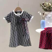 Dress 1,2,3,4,5,6,7,8,9 female Tagkita / she and others 90cm,100cm,110cm,120cm,130cm Cotton 100% summer Europe and America Short sleeve Broken flowers cotton A-line skirt F-2020 Class B 2 years old, 3 years old, 4 years old, 5 years old, 6 years old, 7 years old, 8 years old Chinese Mainland