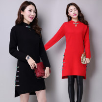 Wool knitwear Autumn of 2019 S M L XL 2XL 3XL Scarlet grey black Long sleeves singleton  Socket other More than 95% Medium length routine commute Self cultivation Half height crew neck routine Solid color Socket Korean version 30-34 years old Other 100% Pure e-commerce (online only)