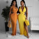 Dress Autumn 2020 Yellow, blue, orange S,M,L,XL longuette singleton  street High waist Solid color Socket One pace skirt Others 25-29 years old Other / other Fold, splice SUM2572A 31% (inclusive) - 50% (inclusive) other Europe and America