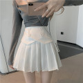 skirt Spring 2021 S M L White black Short skirt commute High waist Pleated skirt Solid color Type A 18-24 years old More than 95% Hua Xian other Button Korean version Other 100% Pure e-commerce (online only) 161g / m ^ 2 (including) - 180g / m ^ 2 (including)