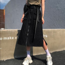 skirt Autumn 2020 S M L XL Apricot black army green Mid length dress commute High waist A-line skirt Solid color Type A 18-24 years old VWEE85439 More than 95% Individual melody cotton Pocket lace up zipper panel Korean version Cotton 100% Pure e-commerce (online only)