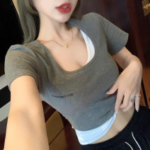 T-shirt Grey black S M L Summer 2021 Short sleeve Polo collar Self cultivation have cash less than that is registered in the accounts routine commute other 96% and above 18-24 years old Korean version youth Solid color Wallis rqOa41471 Other 100% Pure e-commerce (online only)