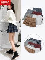 skirt Winter of 2019 S,XL,2XL,3XL,L,M Short skirt Versatile High waist Pleated skirt lattice Type A 18-24 years old NHH5F61102-W211 NGGGN
