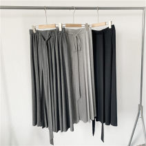 skirt Summer 2020 S,M,L Dark grey, light grey, black commute High waist Type H 51% (inclusive) - 70% (inclusive) Tagkita / she and others modal  Retro