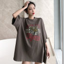 T-shirt M L XL Spring of 2019 three quarter sleeve Crew neck easy Medium length routine commute polyester fiber 51% (inclusive) - 70% (inclusive) 18-24 years old Korean version youth Animal design letters Kotaff printing Polyester 65% Cotton 30% polyurethane elastic fiber (spandex) 5%