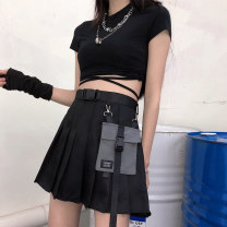 skirt Summer 2020 S M L XL Short skirt commute High waist A-line skirt Solid color Type A 18-24 years old More than 95% Kotaff polyester fiber pocket Korean version Polyester 100% Pure e-commerce (online only)