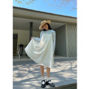 Dress Spring 2021 White, black, white pre-sale, black pre-sale S,M,L Mid length dress singleton  Sleeveless street square neck Loose waist Solid color camisole 18-24 years old Type A Hello, canon W5064 cotton