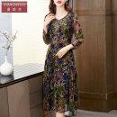 Dress Spring 2021 Decor M L XL 2XL 3XL 4XL 5XL Mid length dress 40-49 years old Shanifen 8818-2 30% and below Lycra Lycra New polyester fiber 95% polyurethane elastic fiber (spandex) 5%