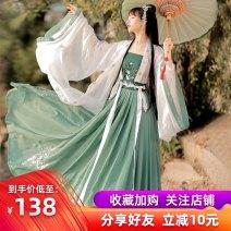 Hanfu 81% (inclusive) - 90% (inclusive) Summer 2020 [Yanyu] shangru + sling + 3M one piece skirt + big sleeve shirt [Yanyu] shangru + sling + 6m one piece skirt + big sleeve shirt S M L XL polyester fiber