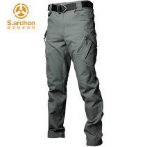 Camouflage pants / military Pants / overalls male 201-500 yuan s.archon S (165 / 28-30) m (170 / 30-32) l (175 / 32-34) XL (180 / 34-36) XXL (185 / 36-38) XXXL (190 / 38-40) Winter spring autumn summer four seasons HKCS01 China trousers Autumn 2020 Slim fit Cotton polyester no