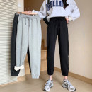 Casual pants Light grey black dark grey M L XL Winter 2020 trousers Haren pants Natural waist commute thickening 18-24 years old ZM0002743 Miss Song cotton Korean version cotton Polyester 80% cotton 20% Pure e-commerce (online only)