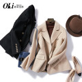 woolen coat Autumn 2020 S [spot], m [spot], l [spot], XL [spot] Black, red, beige wool 95% and above have cash less than that is registered in the accounts Long sleeves commute other routine other Solid color Straight cylinder lady B2060 Pocket, tridimensional decoration, button