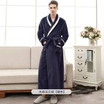 Nightgown / bathrobe Other / other lovers M [163cm and 130kg], XL [173cm and 160kg], XXXL [180cm and 200kg], height choose size bigger than one, free freight insurance thickening Simplicity Polyester (polyester) winter More than 95% Mink hair Solid color youth SUMO-1804 300g