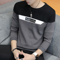 T-shirt Youth fashion routine M L XL XXL XXXL LPW Long sleeves Crew neck Self cultivation daily autumn XWGL Polyester 100% teenagers routine tide Rib  Spring 2020 Solid color Embroidered logo Geometric pattern No iron treatment Fashion brand Pure e-commerce (online only)