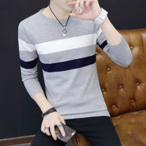 T-shirt / sweater LPW Youth fashion XXL XXXL M L XL routine Socket Crew neck Long sleeves autumn Slim fit 2018 Viscose (viscose) 68.4% polyester 31.6% leisure time tide teenagers routine stripe Autumn of 2018 Mercerization Fine wool (16 and 14 stitches) Pure e-commerce (online only) jacquard weave