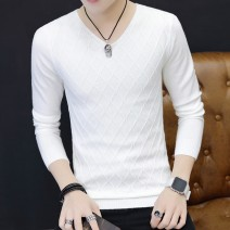 T-shirt / sweater LPW Youth fashion M L XL XXL XXXL Thin money Socket V-neck Long sleeves spring and autumn Slim fit 2020 Viscose fiber (viscose fiber) 46.4% polyester fiber 32.4% polyamide fiber (nylon) 21.2% leisure time tide youth routine Solid color Autumn of 2019 washing