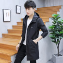Jacket LPW Youth fashion M L XL XXL XXXL routine Self cultivation Other leisure spring Polyester 100% Long sleeves Wear out Hood tide youth Medium length Zipper placket Straight hem No iron treatment Closing sleeve Solid color Autumn of 2018 Zipper decoration Side seam pocket
