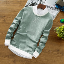 T-shirt Youth fashion routine M L XL XXL XXXL LPW Long sleeves Crew neck Self cultivation Other leisure autumn Cotton 71% polyester 25% polyurethane elastic fiber (spandex) 4% youth routine Youthful vigor other Autumn of 2018 Solid color other No iron treatment Fashion brand