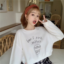 Sweater / sweater Summer 2020 White green violet M L XL Long sleeves routine Socket singleton  routine Crew neck easy commute routine letter 18-24 years old 91% (inclusive) - 95% (inclusive) Han Xuan Korean version cotton DMT-D223 printing cotton Cotton liner Pure e-commerce (online only)