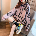 Sweater / sweater Winter of 2019 Reddish brown, white gray M L XL XXL Long sleeves Medium length Socket singleton  Plush Hood easy commute routine letter 18-24 years old 91% (inclusive) - 95% (inclusive) Han Xuan Korean version cotton Kangaroo pocket printed Drawstring cotton Cotton liner