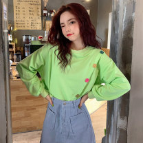 Sweater / sweater Autumn 2020 Orange green white purple yellow M L XL XXL Long sleeves routine Socket singleton  routine Crew neck easy commute routine Solid color 18-24 years old 91% (inclusive) - 95% (inclusive) Han Xuan Korean version cotton HYX617 cotton Cotton liner Pure e-commerce (online only)