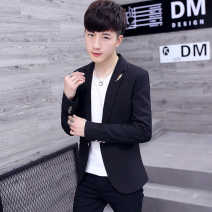 man 's suit 8812 black 8812 Fuchsia Hancatu Youth fashion routine M L XL XXL XXXL AJ924 Polyester 100% Autumn of 2018 Self cultivation A single breasted button Other leisure No slits Pure e-commerce (online only) youth Long sleeves spring routine tide Casual clothes Round hem Solid color