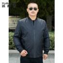 Jacket A long way Fashion City Black blue L XL 2XL 3XL 4XL 5XL 6XL 7XL routine easy go to work autumn BWY01913B Polyester 100% Long sleeves Wear out Baseball collar Business Casual Large size routine Zipper placket Rib hem No iron treatment Closing sleeve Solid color Autumn of 2019 Zipper bag